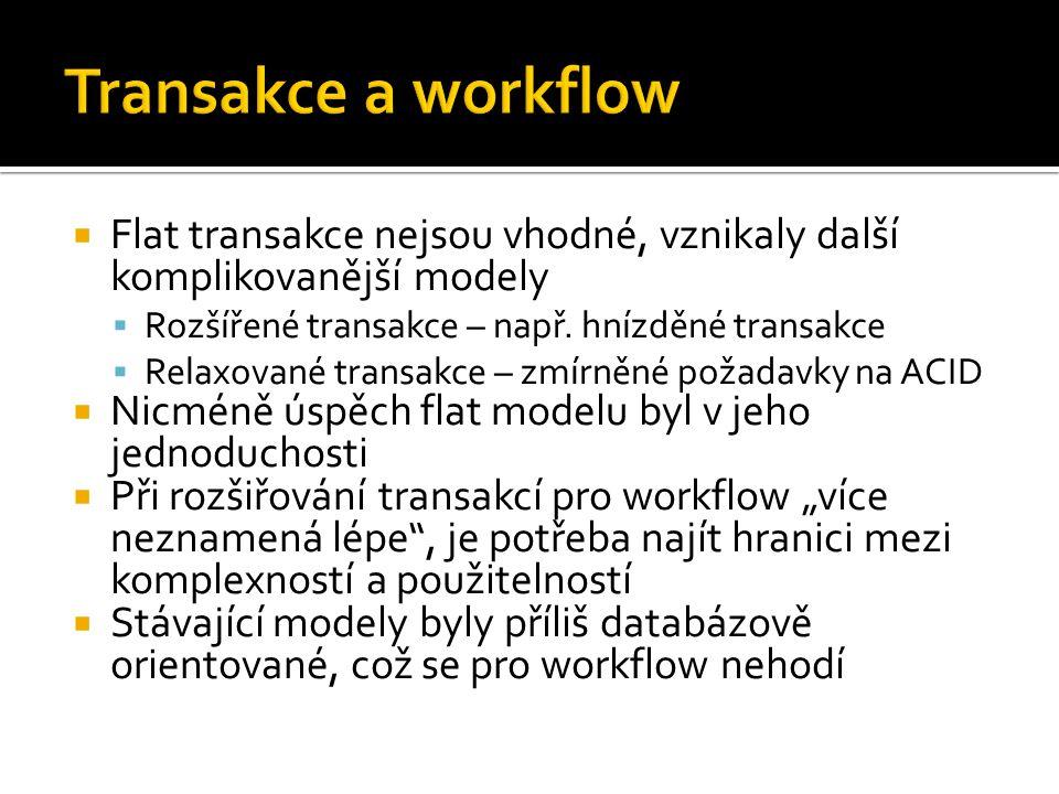  Flat transakce nejsou vhodné, vznikaly další komplikovanější modely  Rozšířené transakce – např.