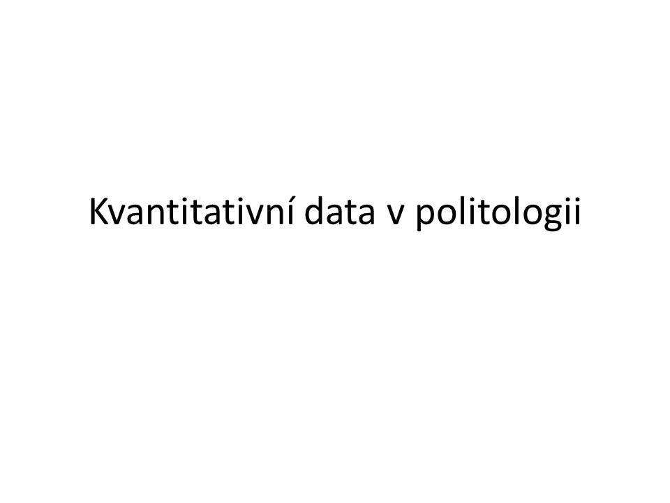Kvantitativní data v politologii