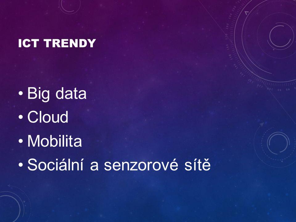 ICT TRENDY Big data Cloud Mobilita Sociální a senzorové sítě