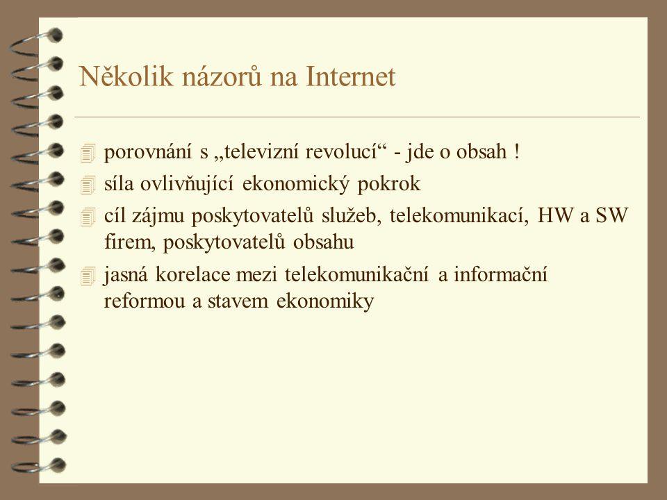 """Několik názorů na Internet 4 porovnání s """"televizní revolucí - jde o obsah ."""
