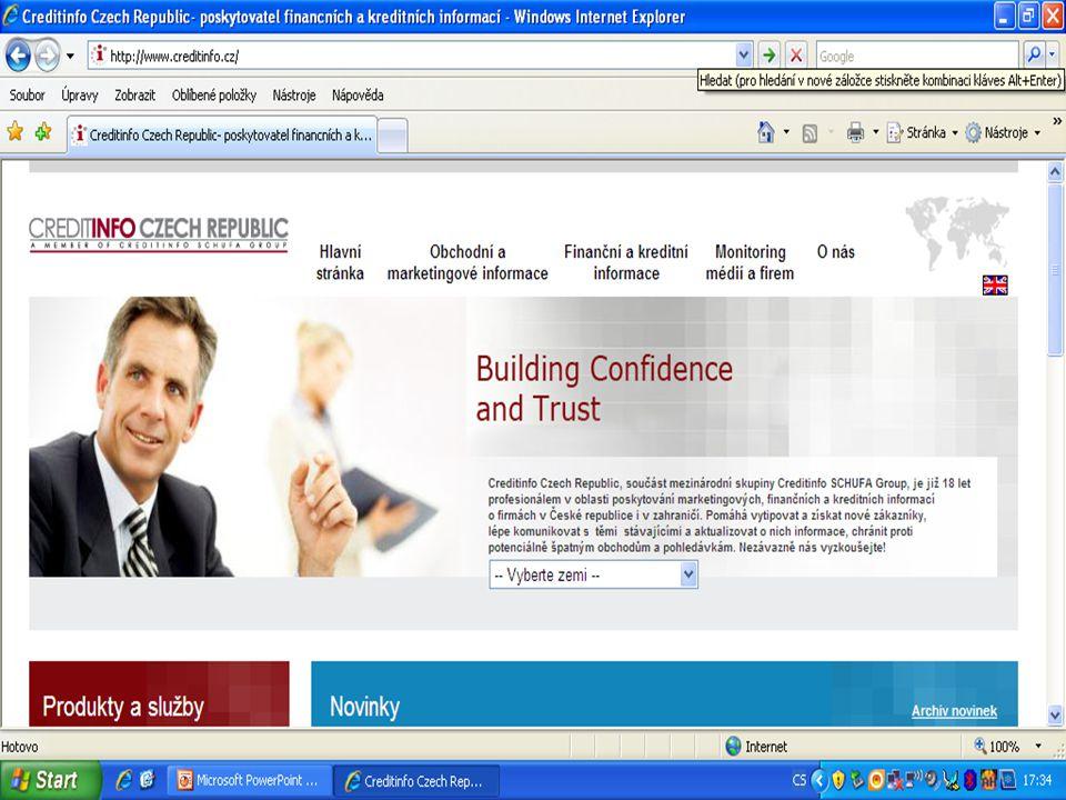 Patentové informace (výběr) Derwent World Patents Index (http://www.derwent.co.uk);http://www.derwent.co.uk STN International – http://www.stn-international.de,http://www.stn-international.de Dialog Corporation – http://www.dialog.comhttp://www.dialog.com Questel/Orbit – http://www.questel.orbit.com.http://www.questel.orbit.com Úřad průmyslového vlastnictví (http://www.upv.cz).http://www.upv.cz Evropský patentový úřad (http://www.epo.org),http://www.epo.org United States Patent and Trademark Office http://www.uspto.gov http://www.uspto.gov Japonský patentový úřad http://www.jpo.go.jp/http://www.jpo.go.jp/
