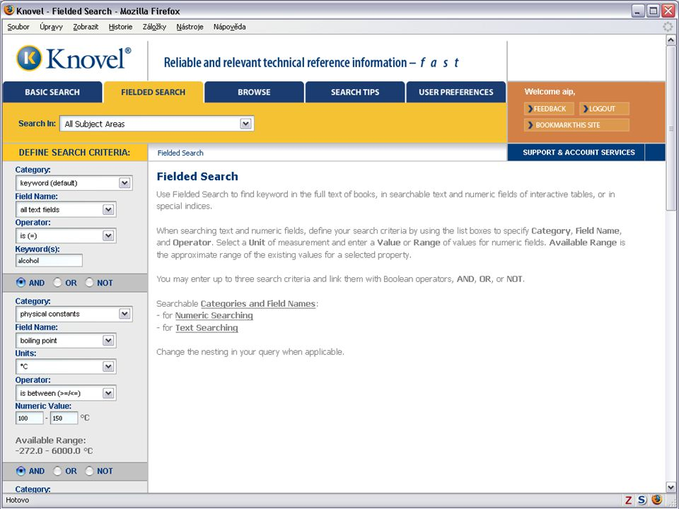 Světový informační průmysl a trh (Vladimír Karen, AiP)32 Knovel Library