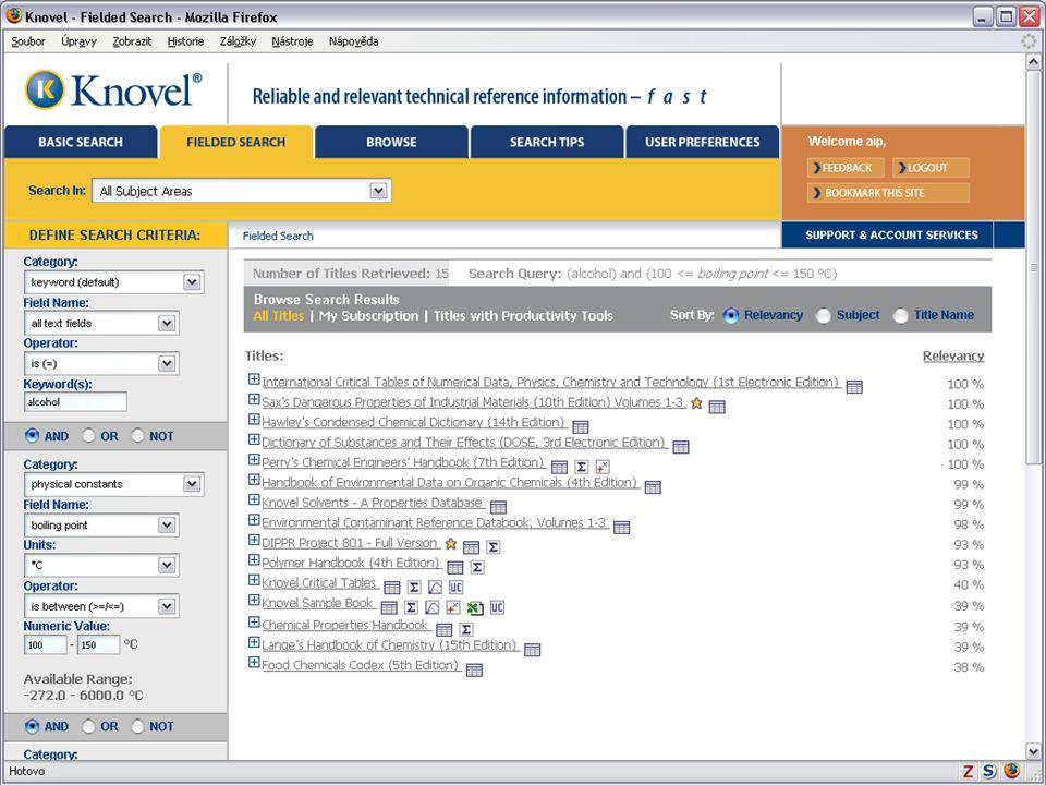 Světový informační průmysl a trh (Vladimír Karen, AiP)33 Knovel Library