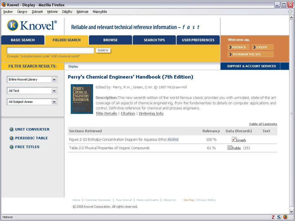 Světový informační průmysl a trh (Vladimír Karen, AiP)34 Knovel Library