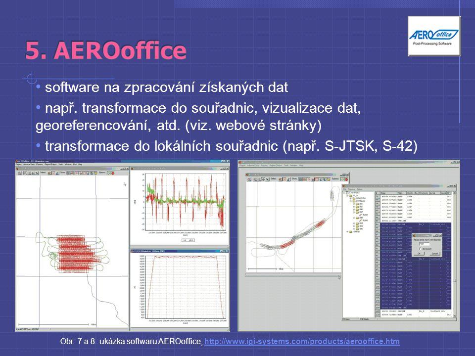 software na zpracování získaných dat např.