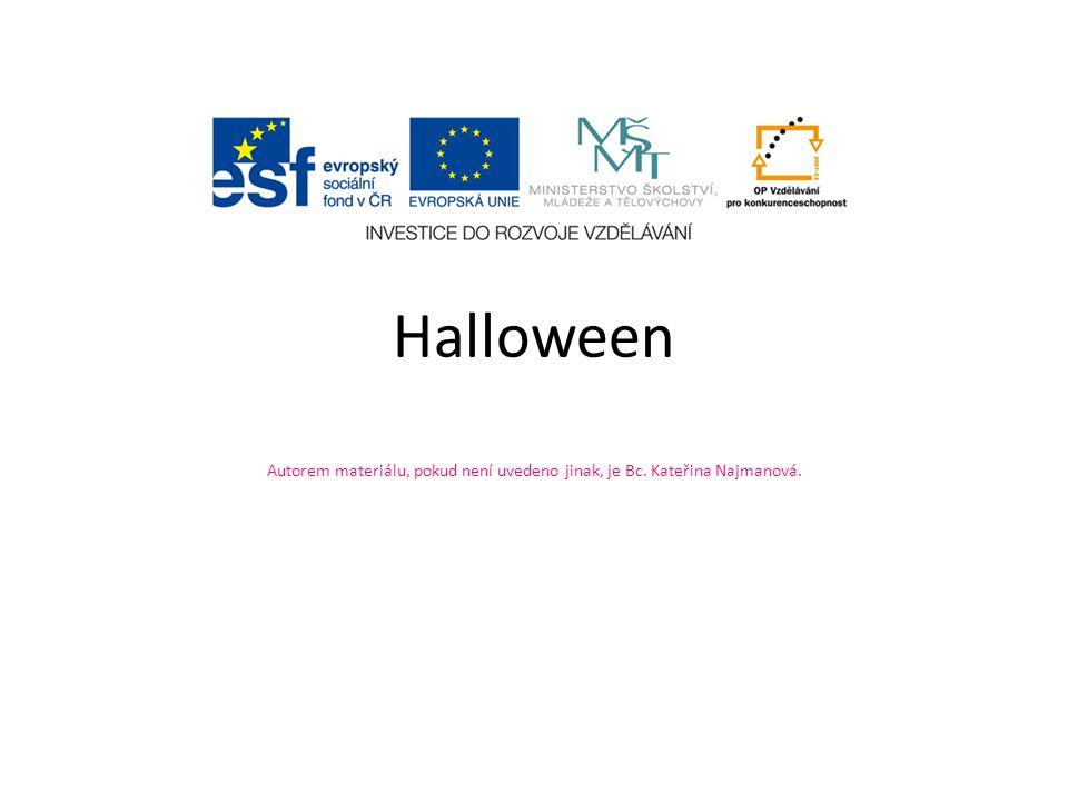 Anotace: Materiál seznamuje žáky s anglosaským svátkem Halloween Autor: Bc.