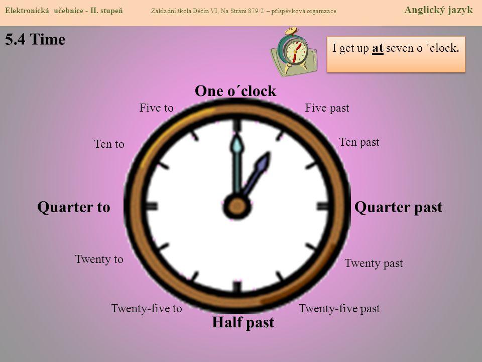 5.4 Time Elektronická učebnice - II.