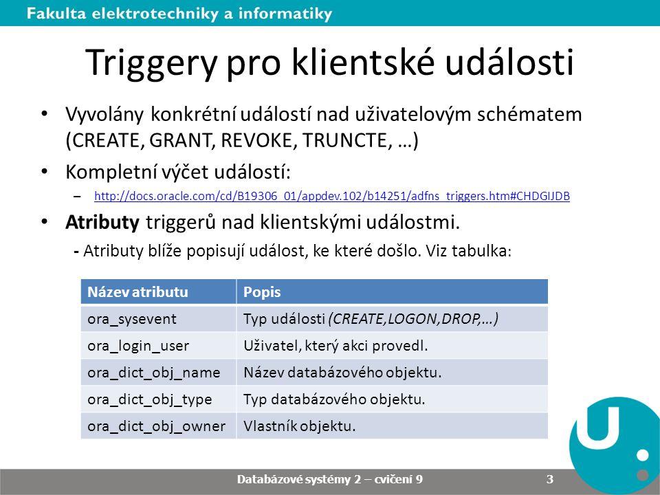 Příklady Databázové systémy 2 – cvičení 9 14