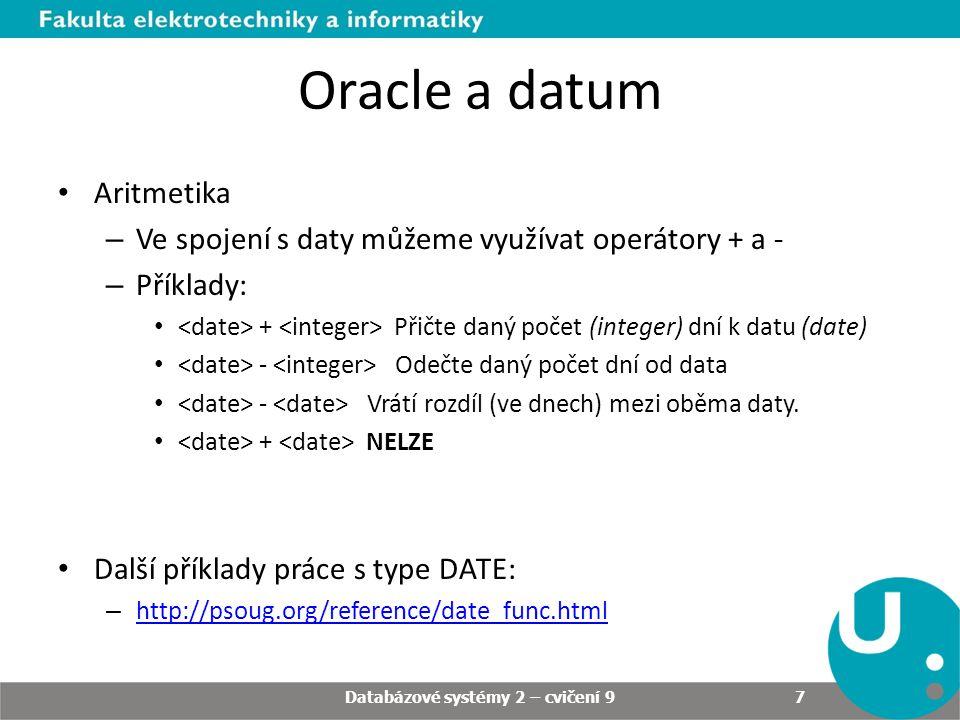 Příklady Vytvořte balíček CV9_DATUMY.