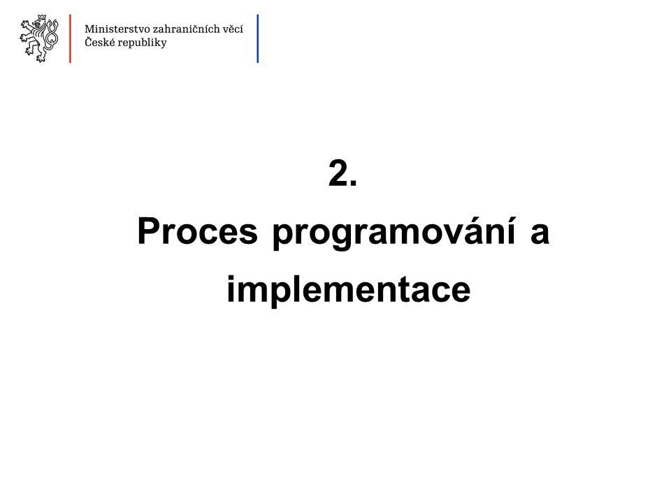 2. Proces programování a implementace