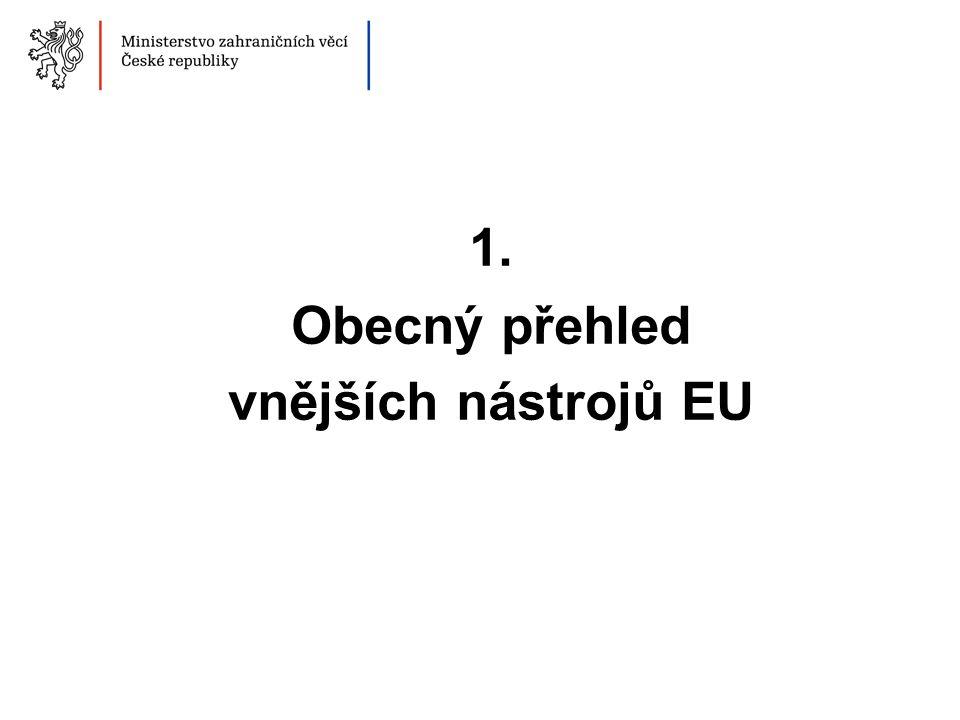 1. Obecný přehled vnějších nástrojů EU