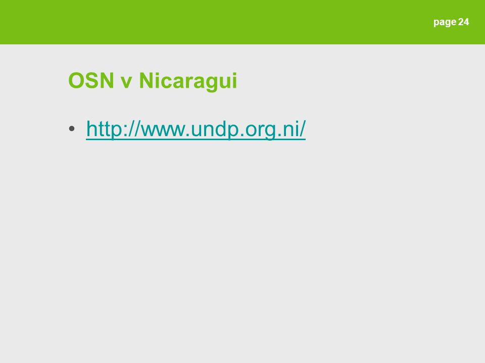 OSN v Nicaragui http://www.undp.org.ni/ page 24