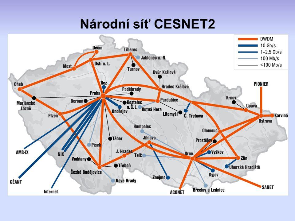 Národní síť CESNET2 DB digitálních obrazů dle standardu DICOM