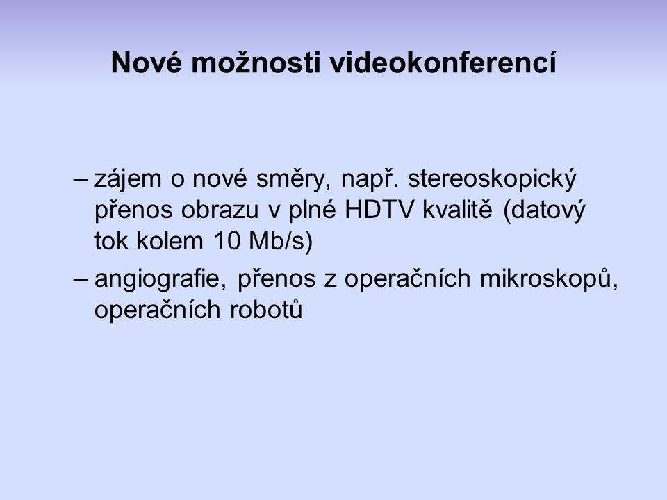 Nové možnosti videokonferencí –zájem o nové směry, např.