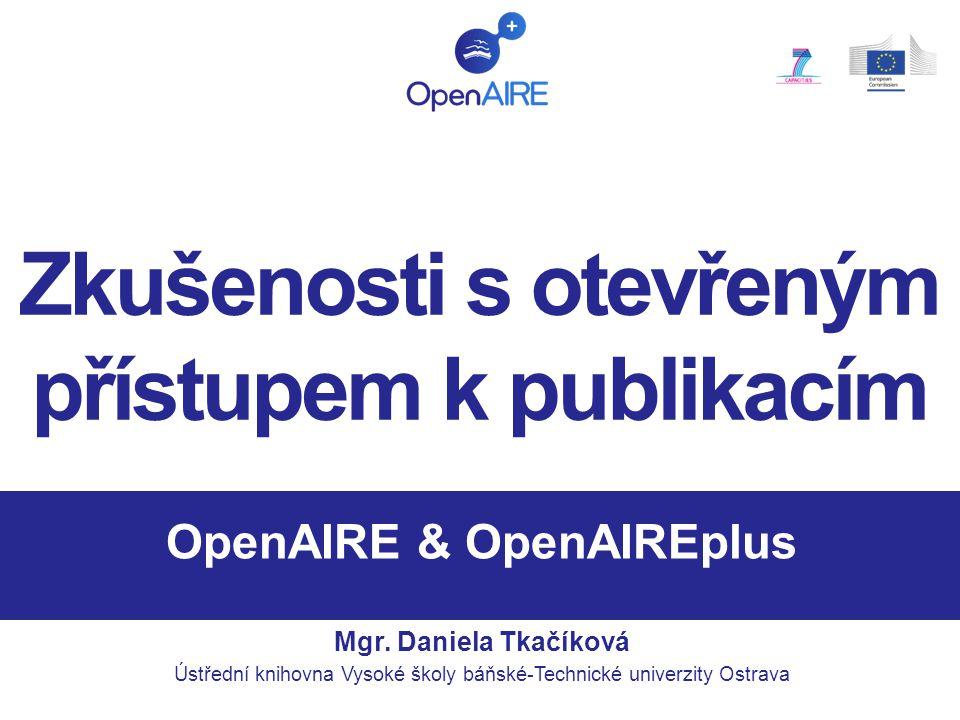 OpenAIRE & OpenAIREplus Mgr.
