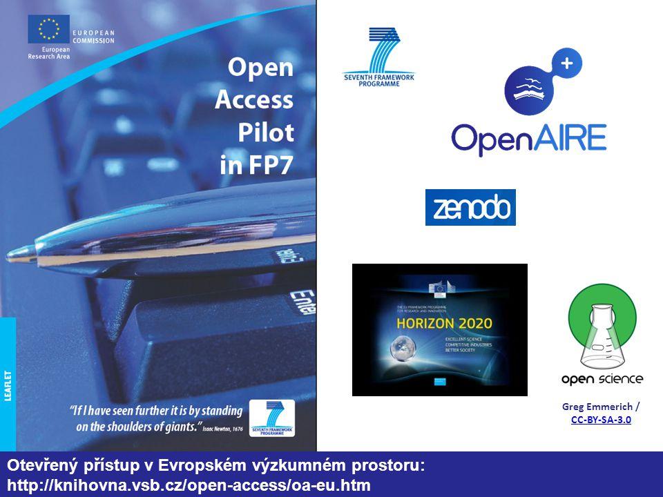 Greg Emmerich / CC-BY-SA-3.0 CC-BY-SA-3.0 Otevřený přístup v Evropském výzkumném prostoru: http://knihovna.vsb.cz/open-access/oa-eu.htm