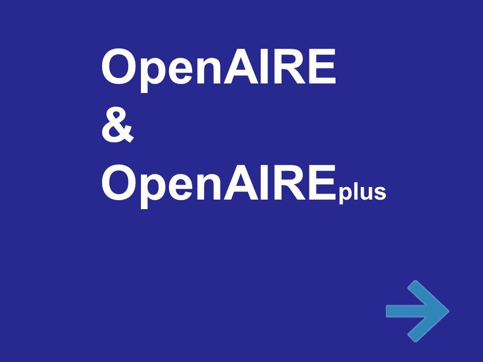 OpenAIRE & OpenAIRE plus