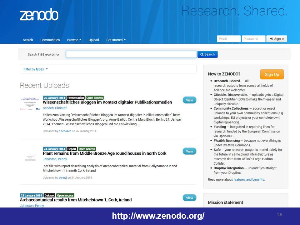 26 http://www.zenodo.org/