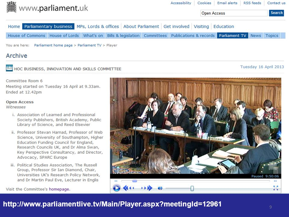 9 http://www.parliamentlive.tv/Main/Player.aspx meetingId=12961
