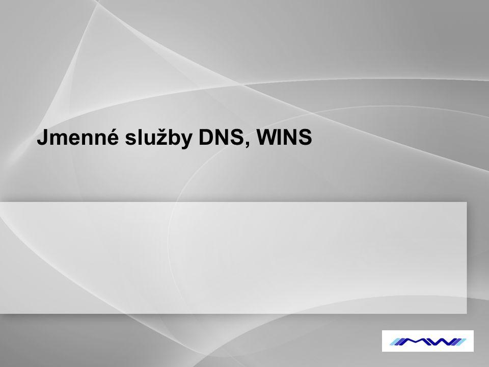 YOUR LOGO Jmenné služby DNS, WINS
