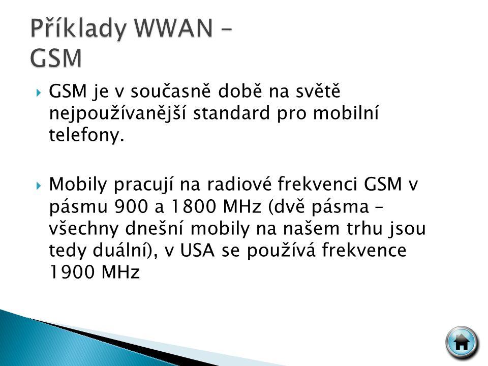  GSM je v současně době na světě nejpoužívanější standard pro mobilní telefony.