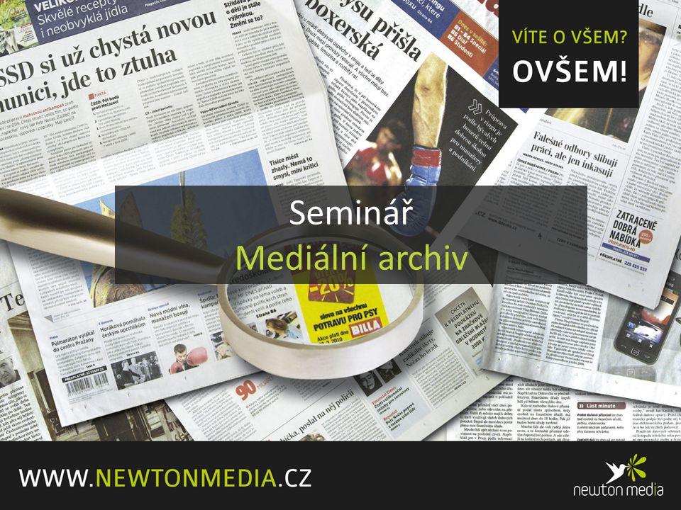Seminář Mediální archiv