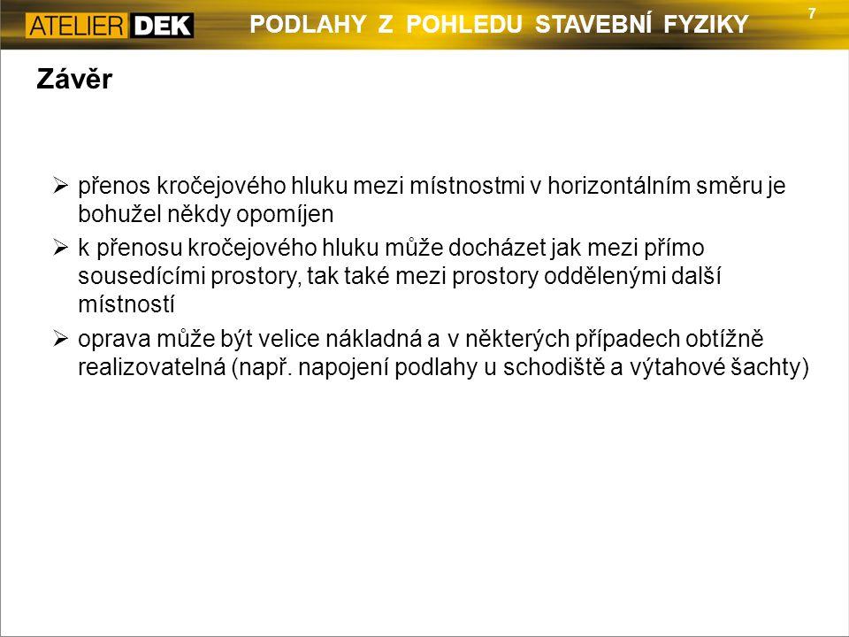 8 PODLAHY Z POHLEDU STAVEBNÍ FYZIKY Kontakt Ing.