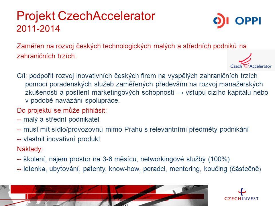 Zaměřen na rozvoj českých technologických malých a středních podniků na zahraničních trzích. Cíl: podpořit rozvoj inovativních českých firem na vyspěl