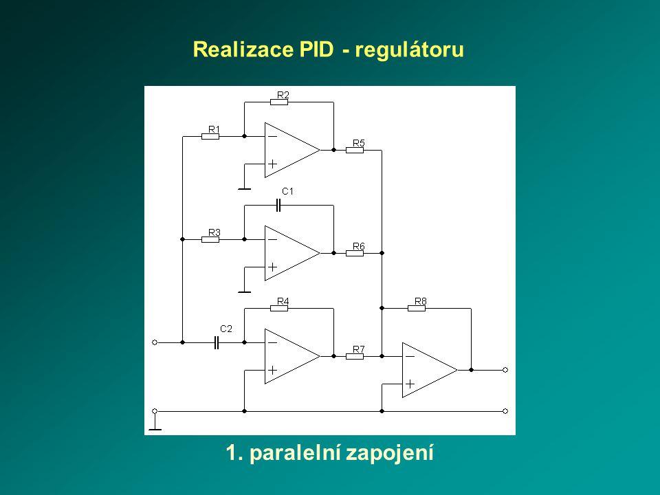 Realizace PID - regulátoru 2. korekční člen3. zpětnovazební PID - regulátor