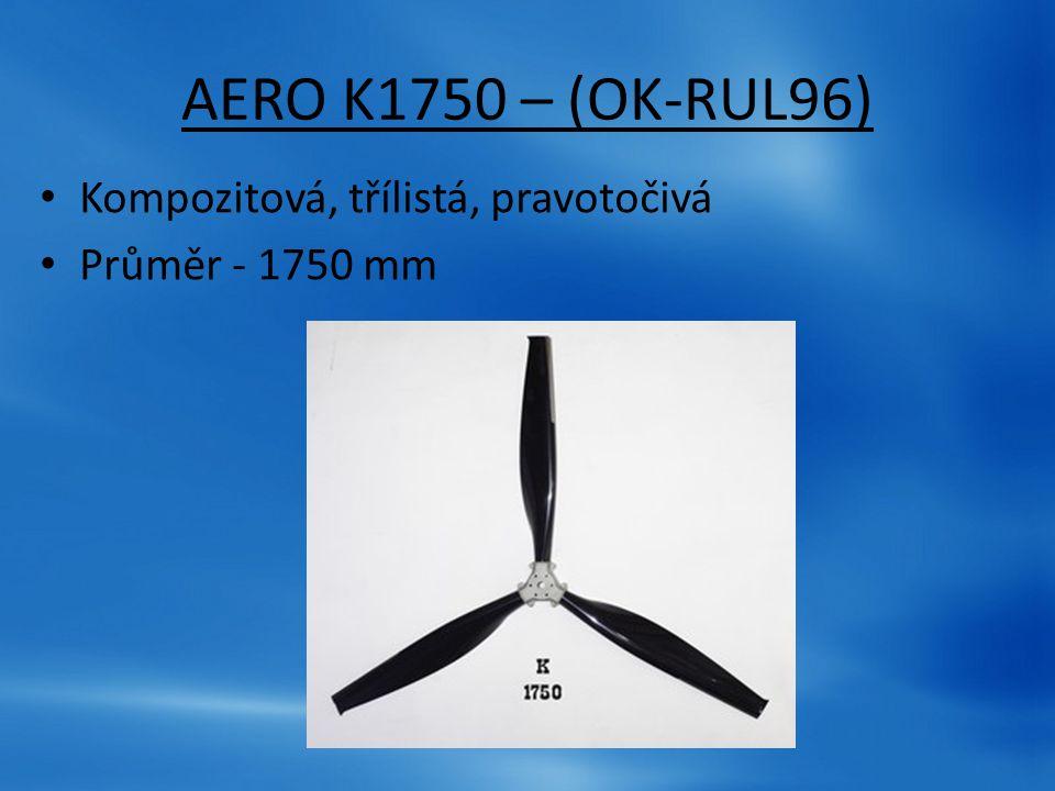 AERO K1750 – (OK-RUL96) Kompozitová, třílistá, pravotočivá Průměr - 1750 mm