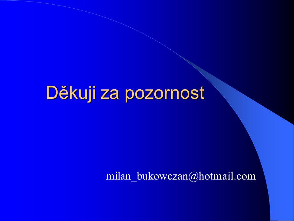 Děkuji za pozornost milan_bukowczan@hotmail.com