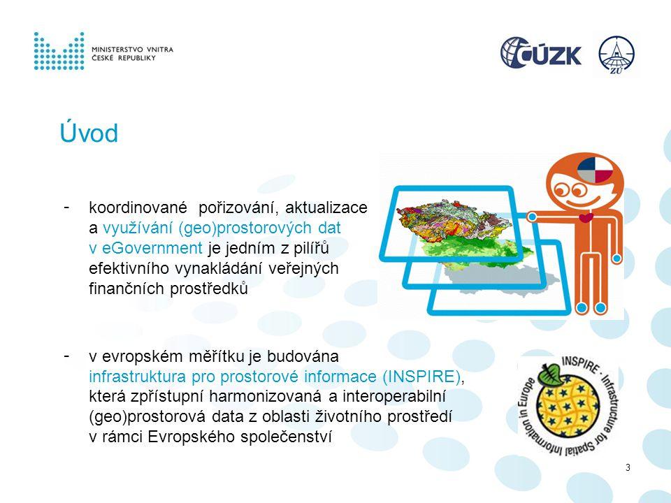 3 Úvod - koordinované pořizování, aktualizace a využívání (geo)prostorových dat v eGovernment je jedním z pilířů efektivního vynakládání veřejných fin