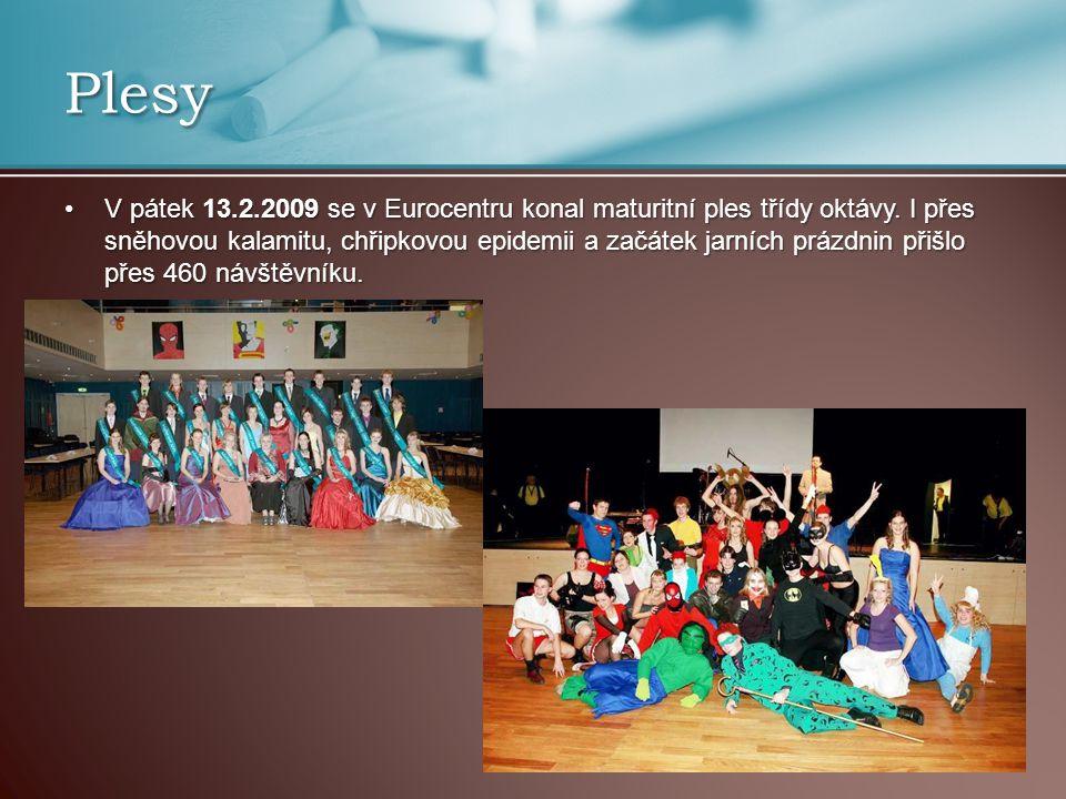 Plesy V pátek 13.2.2009 se v Eurocentru konal maturitní ples třídy oktávy.