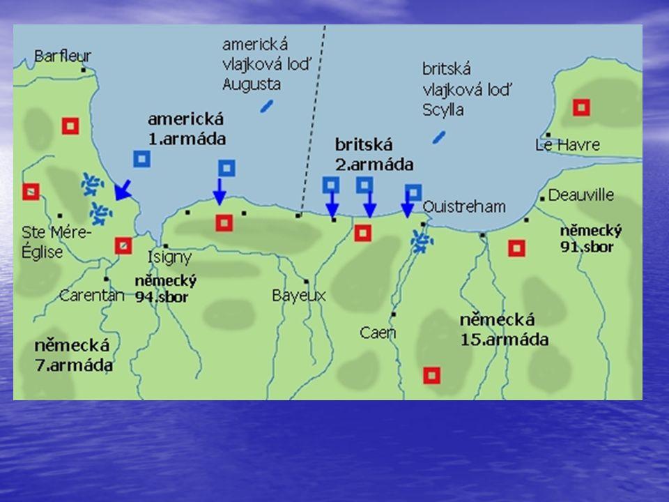 brzy ráno začaly vyloďovat jednotlivé části obrovské armády. Celá oblast pláží, kde mělo dojít k vylodění, byla označena krycími jmény Omaha, Utah, Ju