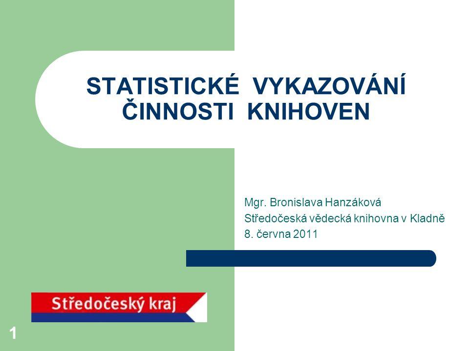 Roční výkaz o knihovně – formulář za rok 2010 název zpravodajské jednotky (ZJ) – o které knihovně jsou statistické údaje IČO (dříve, nyní IČ) – identifikační číslo knihovny, pokud jej má Evidenční číslo knihovny – ve volně přístupné databázi MK ČR na http://www.mkcr.cz/scripts/detail.php?id=443 adresa - např.