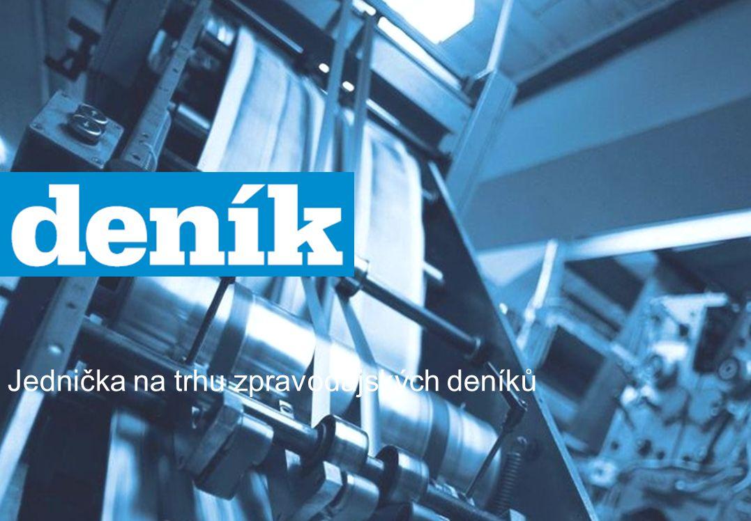 Deník – s dlouhodobě nejvyšším net reach Zdroj: Media projekt, 1.1.