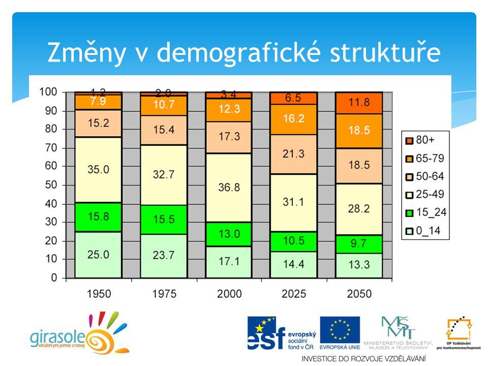 Změny v demografické struktuře