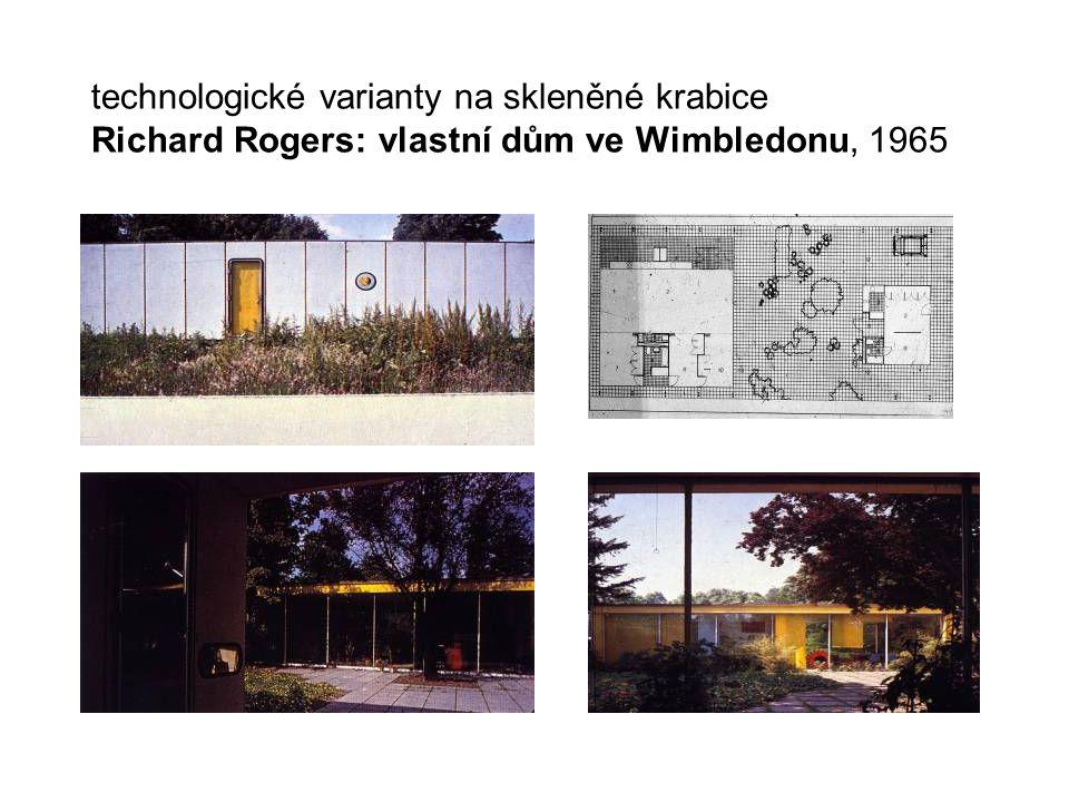 technologické varianty na skleněné krabice Richard Rogers: vlastní dům ve Wimbledonu, 1965