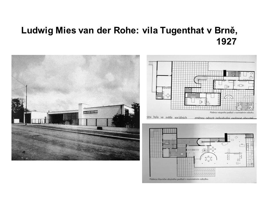 Ludwig Mies van der Rohe: vila Tugenthat v Brně, 1927