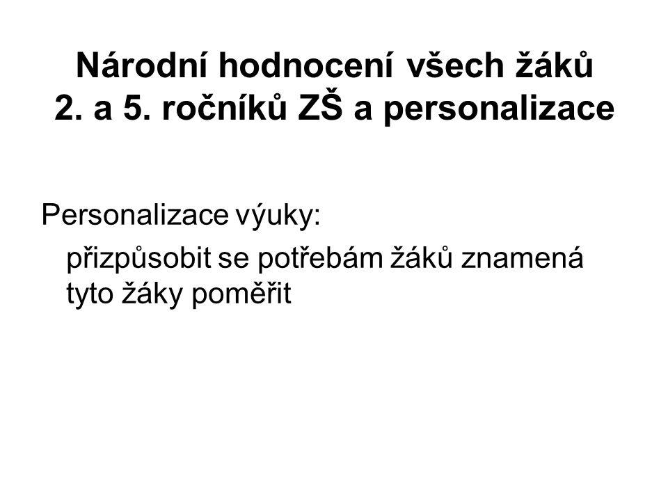 Národní hodnocení všech žáků 2. a 5.