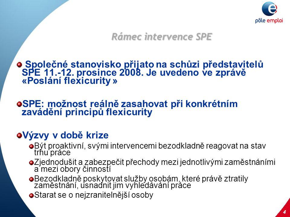 4 Rámec intervence SPE Společné stanovisko přijato na schůzi představitelů SPE 11.-12.