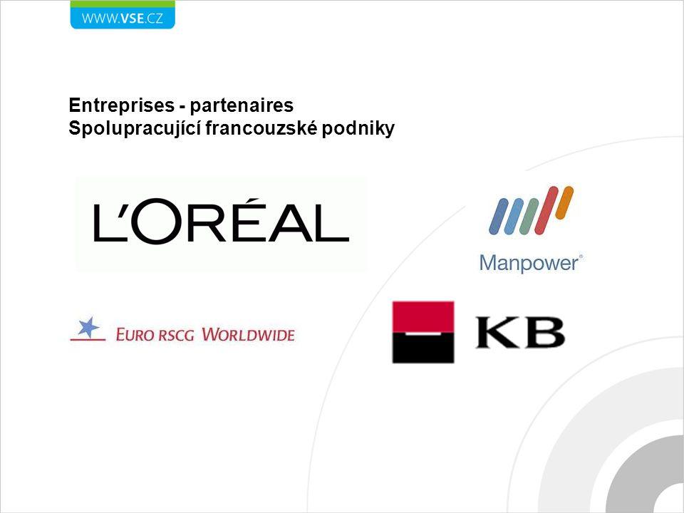 Entreprises - partenaires Spolupracující francouzské podniky