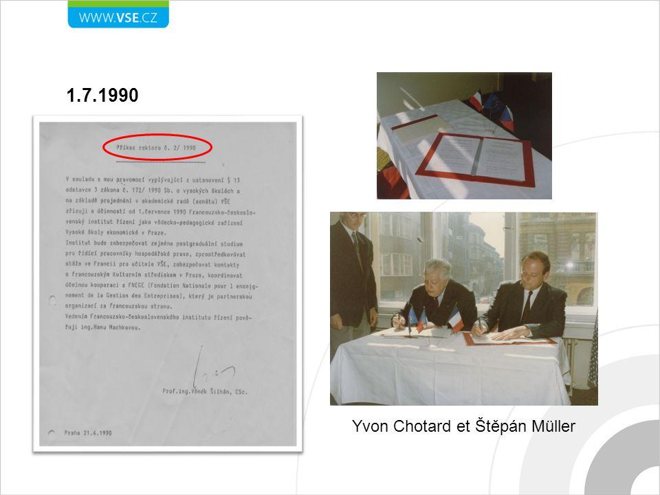 1.7.1990 Yvon Chotard et Štěpán Müller