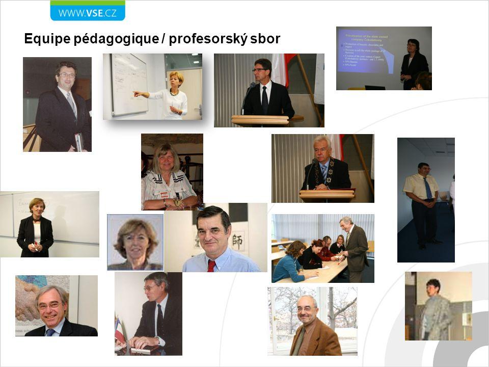 Equipe pédagogique / profesorský sbor