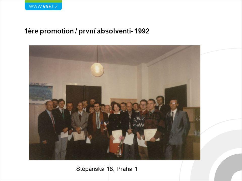 1ère promotion / první absolventi- 1992 Štěpánská 18, Praha 1