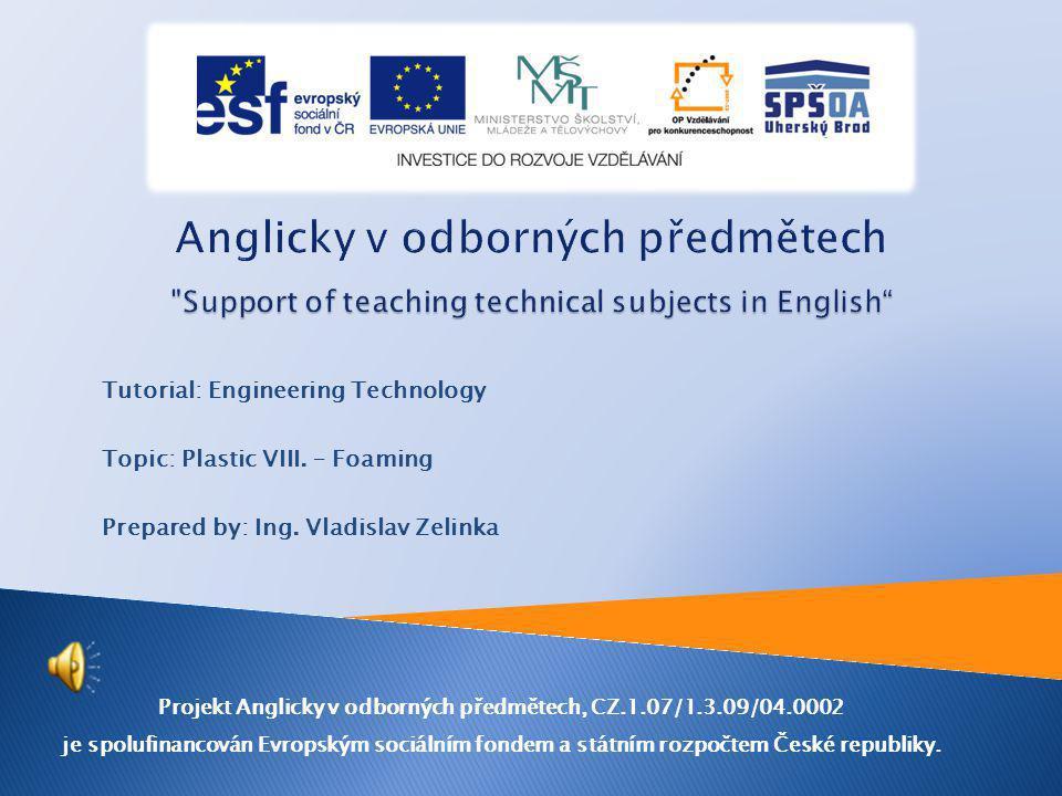 Projekt Anglicky v odborných předmětech, CZ.1.07/1.3.09/04.0002 je spolufinancován Evropským sociálním fondem a státním rozpočtem České republiky.