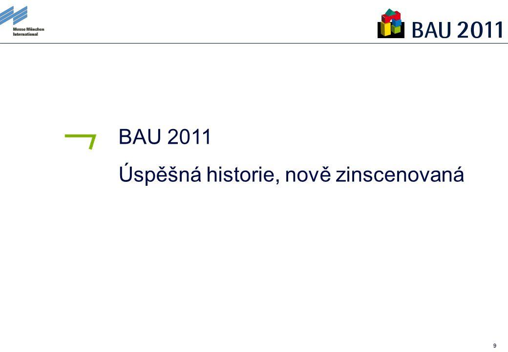 99 BAU 2011 Úspěšná historie, nově zinscenovaná