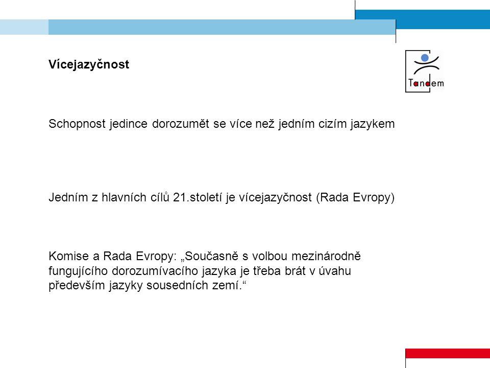 Průzkum ISEA ( Institut pro sociální a ekonomické analýzy)  54 % Čechů se nedomluví žádným jazykem  27 % Čechů se domluví jedním jazykem  14 % Čechů se domluví dvěma jazyky  23 % Čechů s vysokoškolským vzděláním se nedomluví žádným jazykem Schopnost obyvatel komunikovat jiným než mateřským jazykem se stává jedním z klíčových faktorů životního úspěchu (povolání) i životního stylu (cestování).
