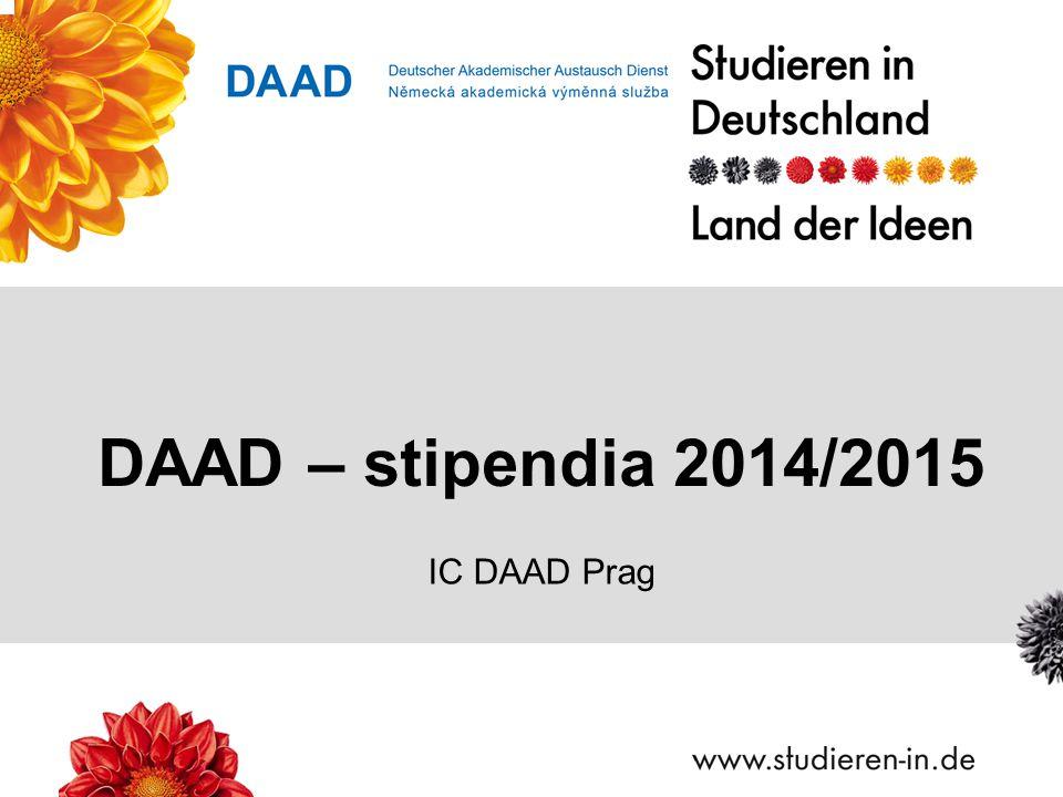 DAAD – stipendia 2014/2015 IC DAAD Prag
