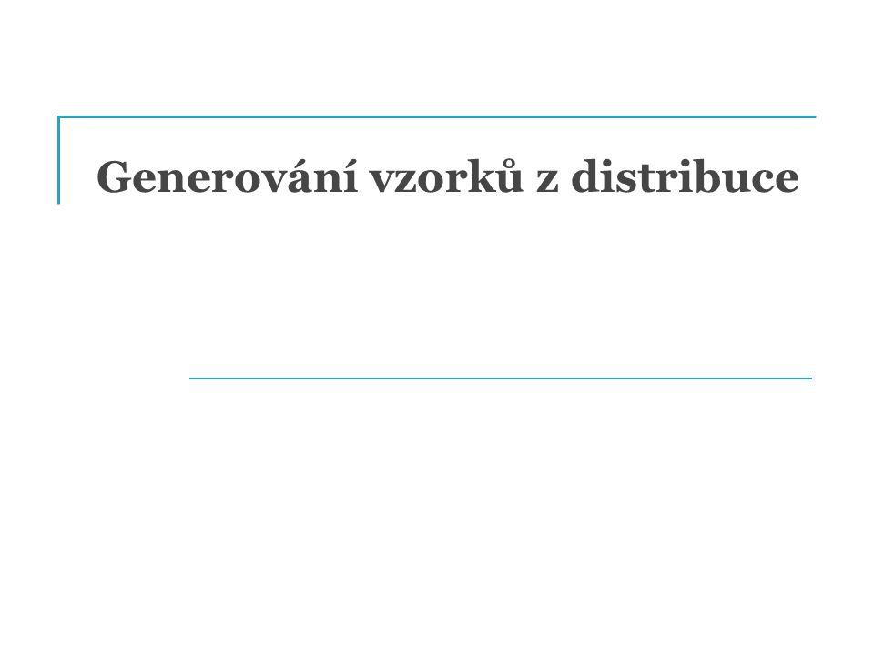 Generování vzorků z distribuce